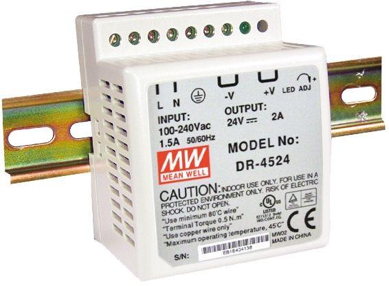 MEAN WELL DR-45-24 Hutschienennetzteil 45W 24V DC
