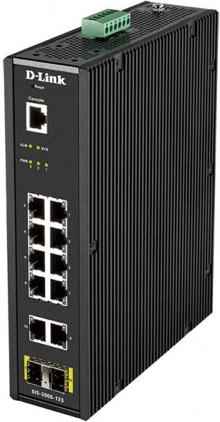 D-Link DIS-200G-12S Netzwerk-Switch Managed L2 Gigabit Ethernet (10/100/1000) Schwarz