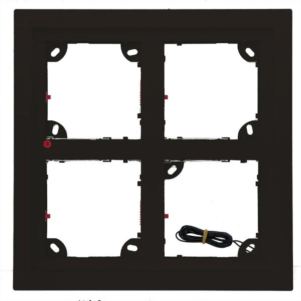 MOBOTIX 4er Rahmen schwarz (MX-OPT-Frame-4-EXT-BL)