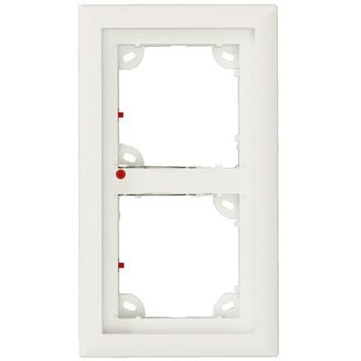 MOBOTIX 2er Rahmen weiss (MX-OPT-Frame-2-EXT-PW)