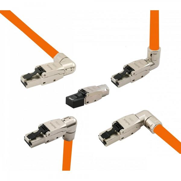 Helos feldkonfektionierbarer Premium Cat 8.1 Metall-Stecker, 5-Ausführungen