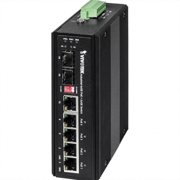 VIVOTEK AW-IHU-0600 Industrieller Gigabit Switch, UPoE, bis -40°C