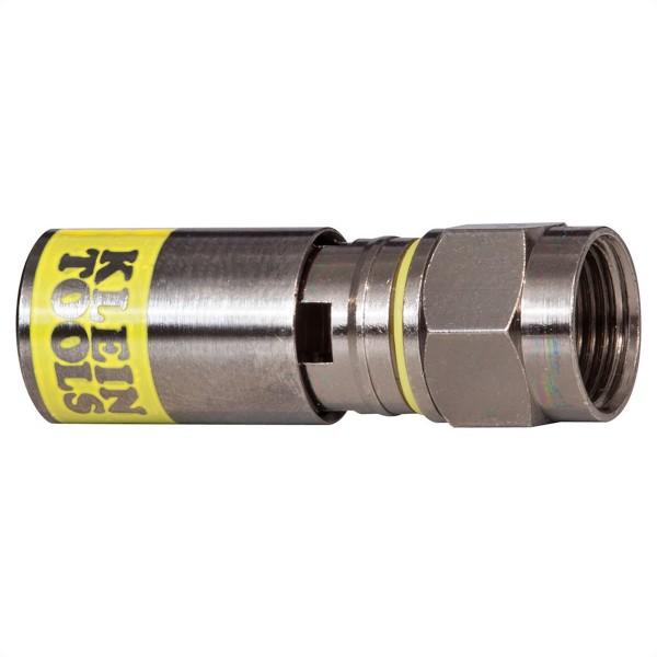 KLEIN TOOLS VDV812-606 Universal-F-Kompressionssteckverbinder RG6/6Q, 10 Stück