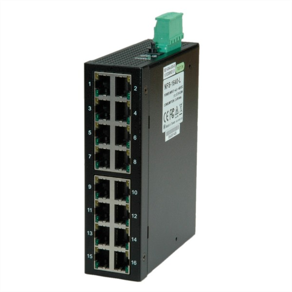 ROLINE Industrie Switch 16x RJ-45, unmanaged