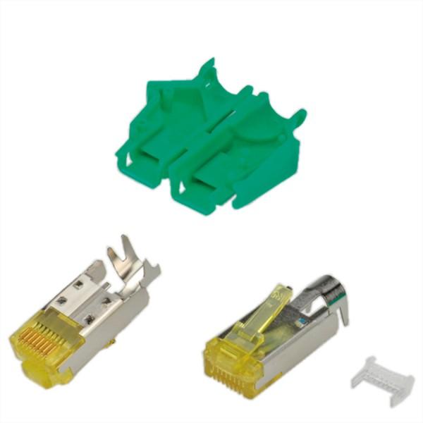HiRose TM31 Stecker geschirmt, Tülle grün, 50 Stück