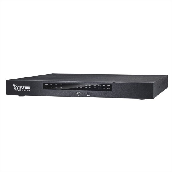 VIVOTEK ND9541P NVR, 32-CH, 4HDD, H.265, HDMI/VGA, 16x PoE, VIVOcloud