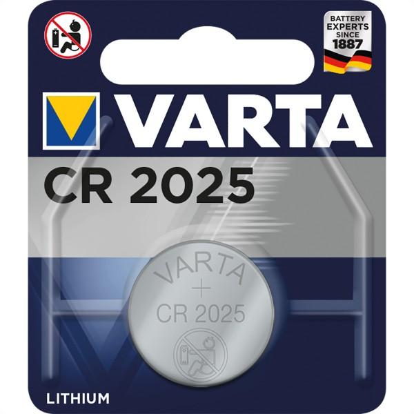 VARTA Knopfzellen CR2025, 3,0V