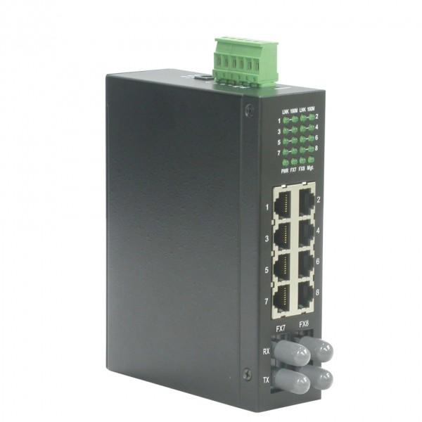 ROLINE Industrie Switch, 6x RJ-45, 2x ST, unmanaged