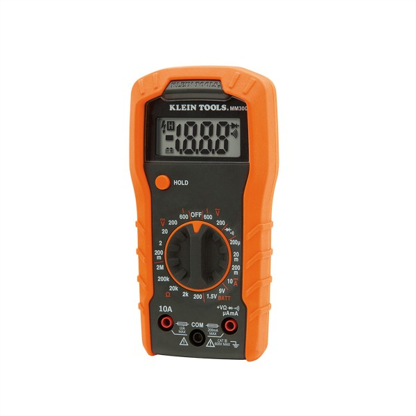 KLEIN TOOLS MM300 Digital Multimeter, manuelle Bereichseinstellung 600V