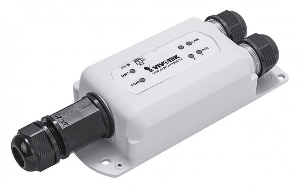 VIVOTEK AP-FEX-0250-T, EPoC, Outdoor, IP67, PoE over Coax, Empfänger, 1 Kamera