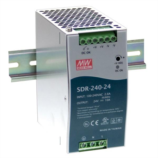 Mean Well SDR-240-24 Hutschienennetzteil 240W 24V DC