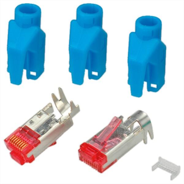 HiRose TM21 Stecker geschirmt, Tülle blau, 50 Stück