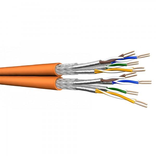 Draka Duplex-Verlegekabel UC900 HS23, Cat 7, S/FTP, PiMF, LSZH, orange, 500m