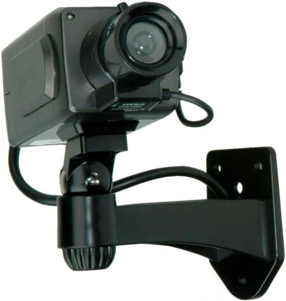 VALUE Dummy Indoor Zoom Kamera mit LED-Blinklicht, schwarz