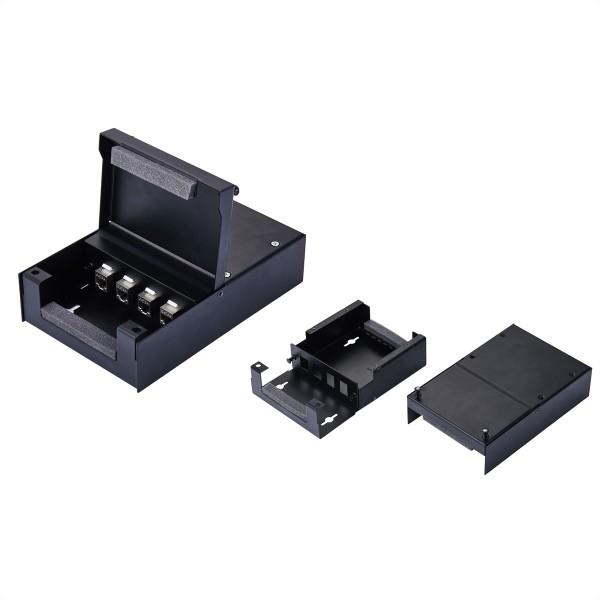 VALUE Wandgehäuse für 4x Keystones, schwarz