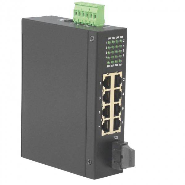 ROLINE Industrie Switch 7x RJ-45, 1x SC, unmanaged
