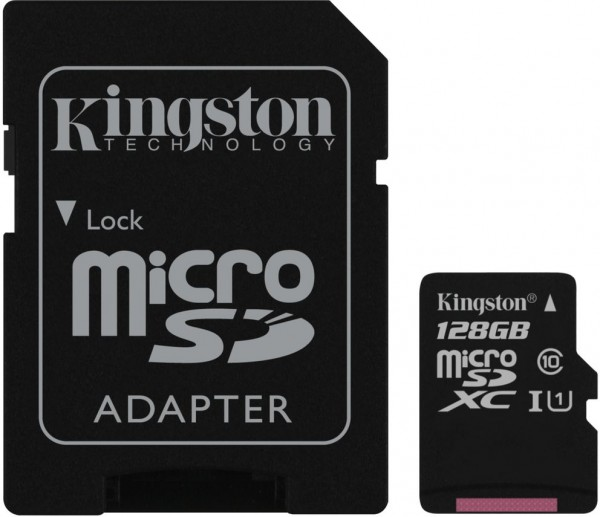 Kingston Technology Canvas Select 128GB MicroSD UHS-I Klasse 10 Speicherkarte