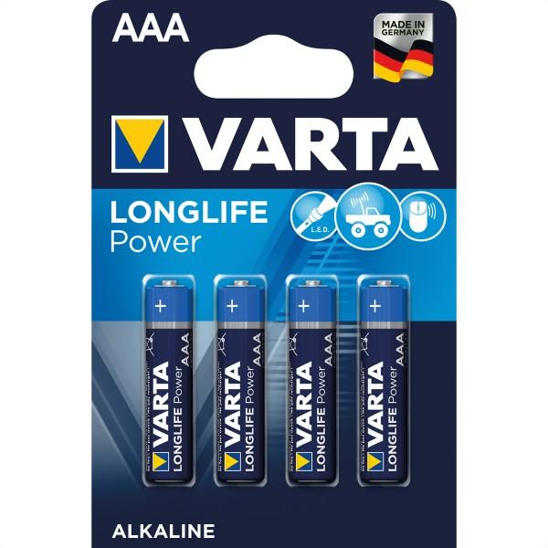 VARTA Batterie Micro AM-4, AAA, LR03,4er, 1,5V 4 Zellen per Blister