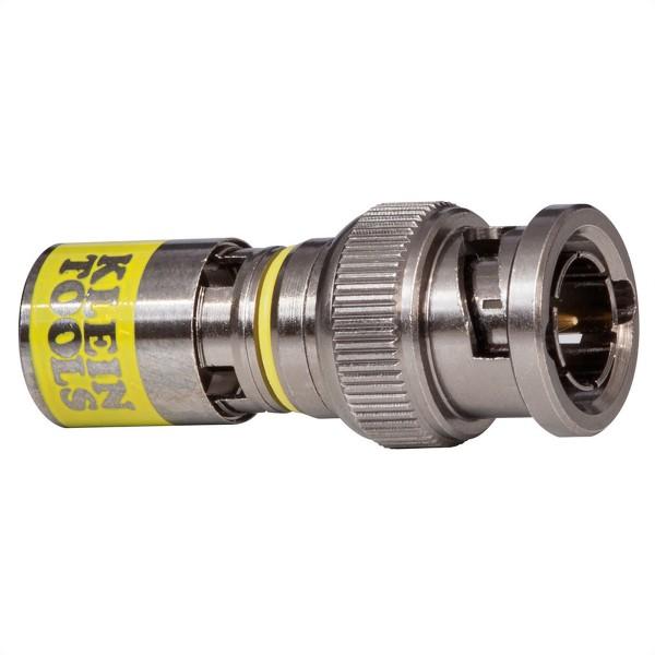 KLEIN TOOLS VDV813-607 Universal BNC-Kompressionssteckverbinder RG6-R6Q, 10 Stück