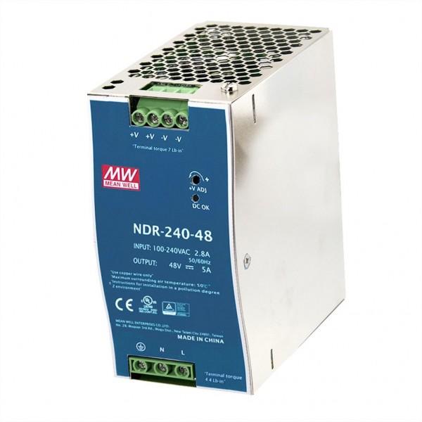 MEAN WELL NDR-240-48 Industrie DIN-Rail Netzteil, 48VDC/240W